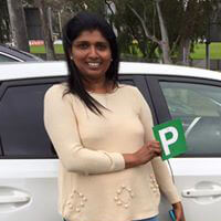 Driving Lessons in Point Cook helped Nilanthi get her Ps
